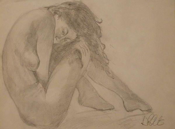 Pencil nude by Dave Atkins