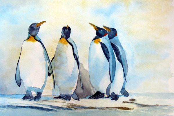 Penguin Parade by Judy Palmer
