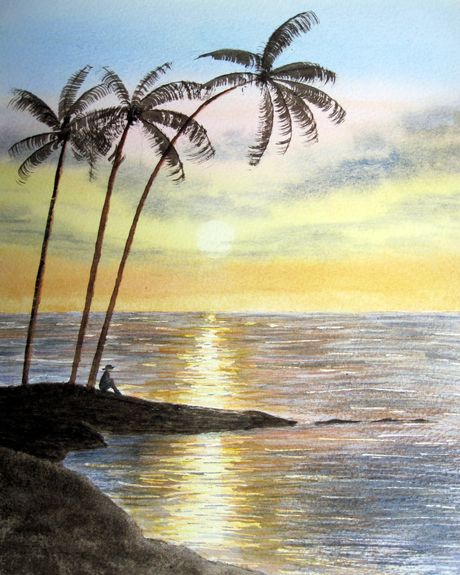 Reflections at sunset by Judy Palmer