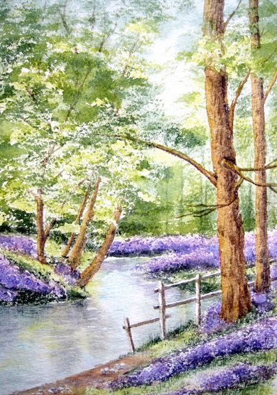 Tranquility trees by Judy Palmer