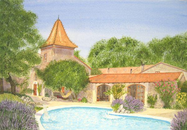 Carcasonne holiday villa by Judy Palmer