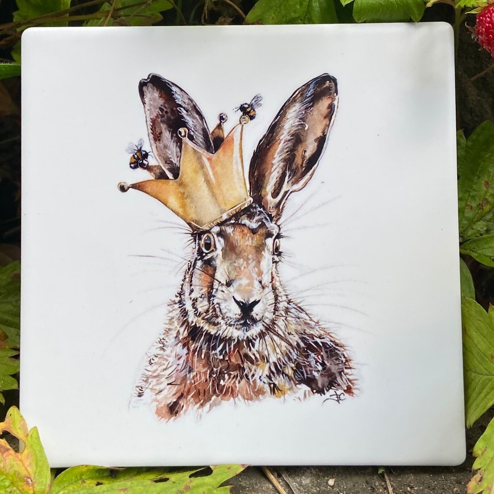 King for a Day Ceramic Coaster