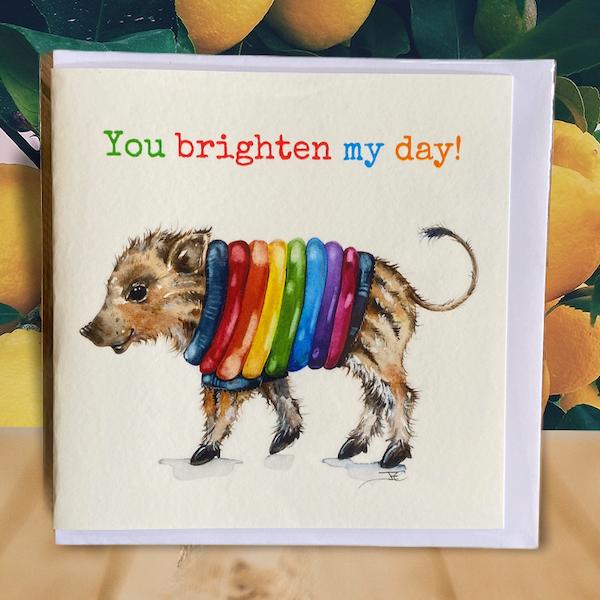 Rainbow Humbug card