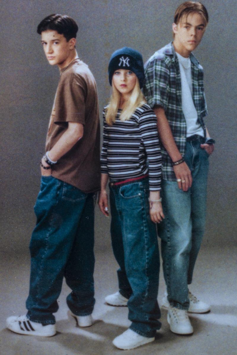Mark Ballas, Julianne & Derek Haugh (Polaroid circa 2000)