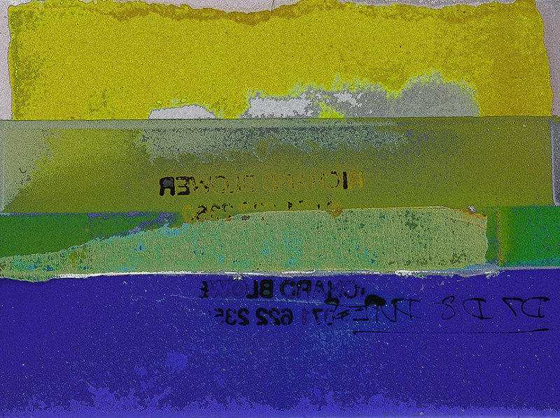 Yellow Green & Blue Collage