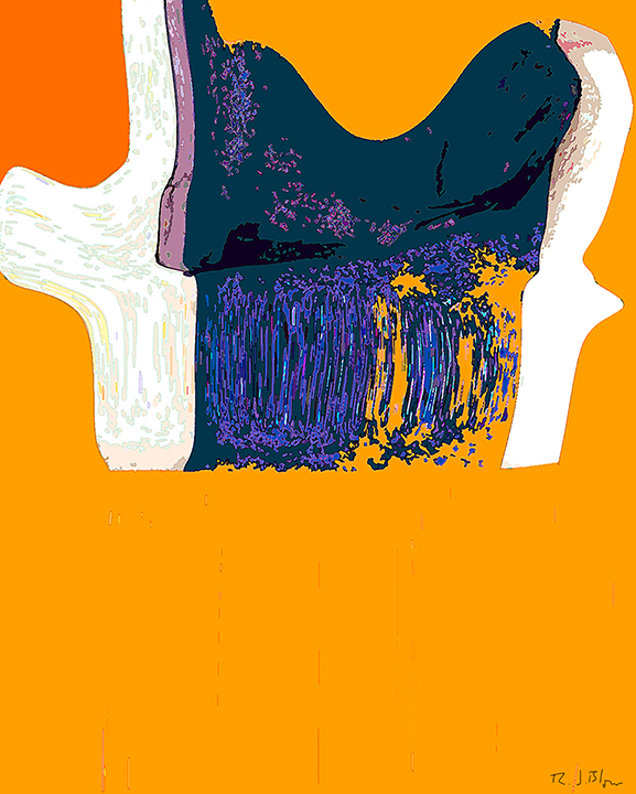 Orange Blue Curtain