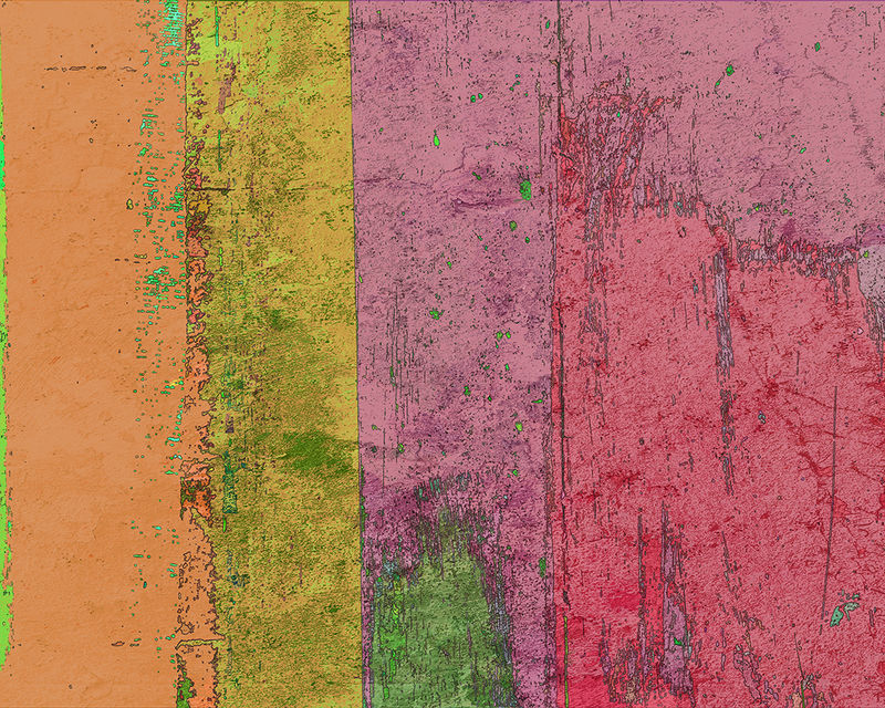 Abstract Orange Yellow Magenta Collage