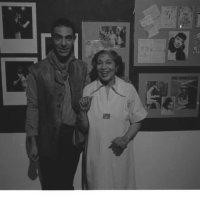 Derek Jarman with Elisabeth Welch