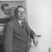 George Melly at home