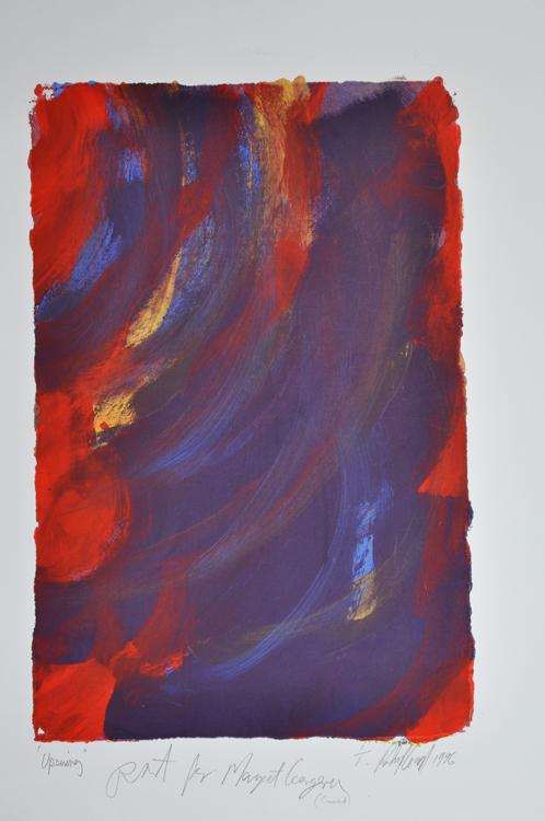 Upswing. Print for Margaret Georgina