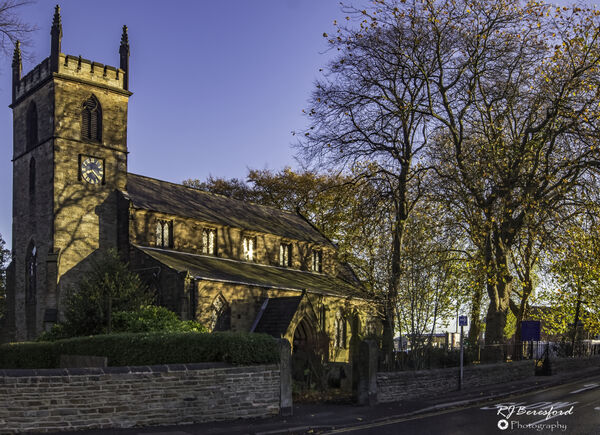 St Michael and All Angels Church in Autumn