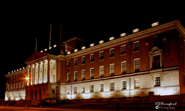 Chesterfield Town Hall at Night