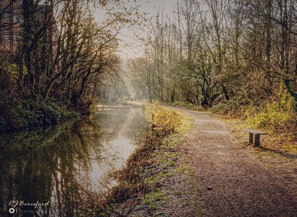 Winter Sun Over TheChesterfield Canal