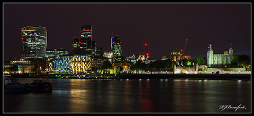 The Tower & City of London at Night
