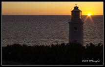 Trevose Head Lighthouse at Sunset