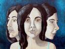 Part of my triple portrait of P J Harvey