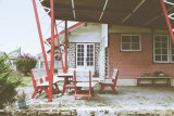Alpine porch, late 1950s Kopeng Resort