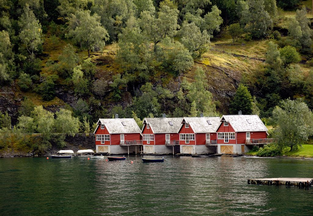 Boat Houses, Flam, Norway