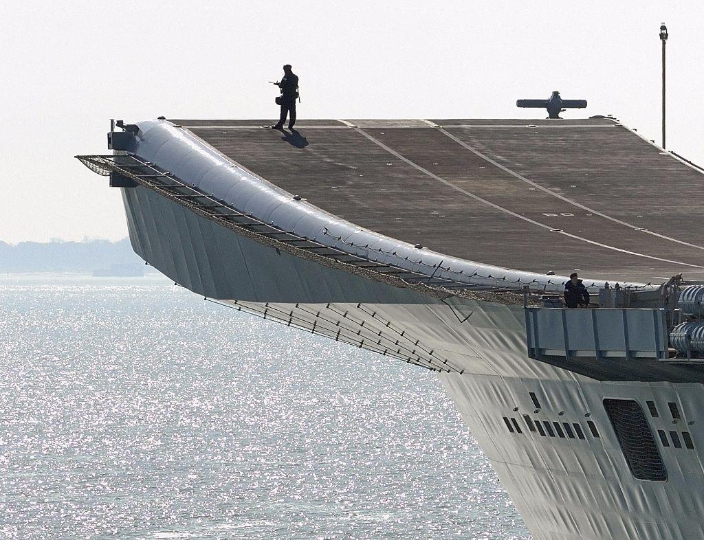 HMS Illustrious Bow 1a