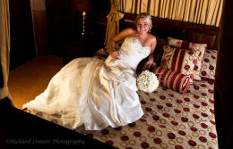 Beautiful bride in the bridal suite