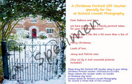 Christmas Portrait Gift Voucher