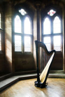Oona Linnett professional Harpist