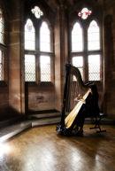 Oona Linnett playing the Concert Harp Peckforton Castle