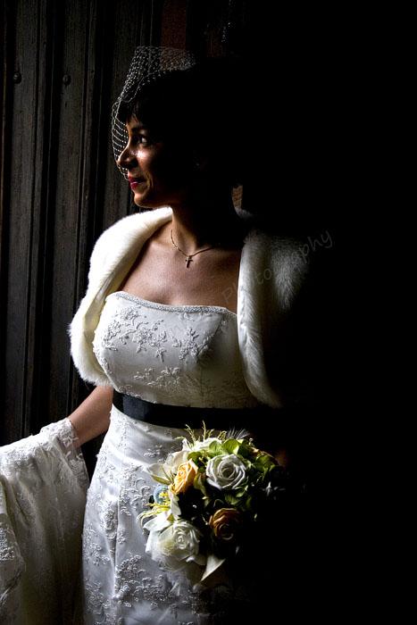 Bride before the Church door