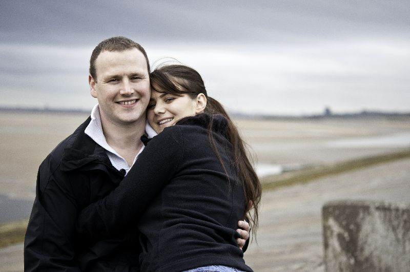North Wirral Coastal Park engagement portrait