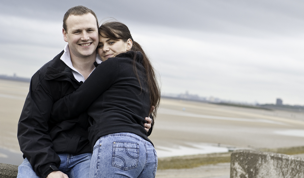Engagement shoot on the Wirral Coast