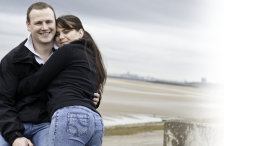 Engageent shoot, Wirral coast, Liverpool in the background