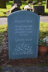 Headstone Back with Moorland Grasses