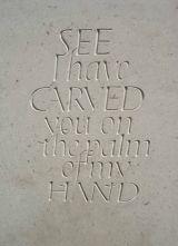 'See I have carved'. Hopton Wood Limestone 2002