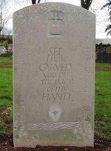 Headstone back in Hopton Wood Limestone