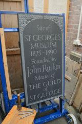 "St Georges Museum Plaque: 46"" x 24"" Cumbrian Slate"