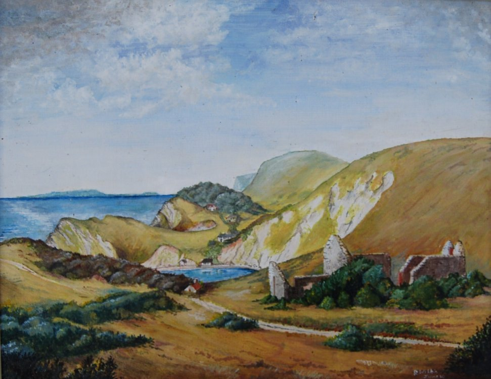 Little Bindon, Lulworth  Oil 1990
