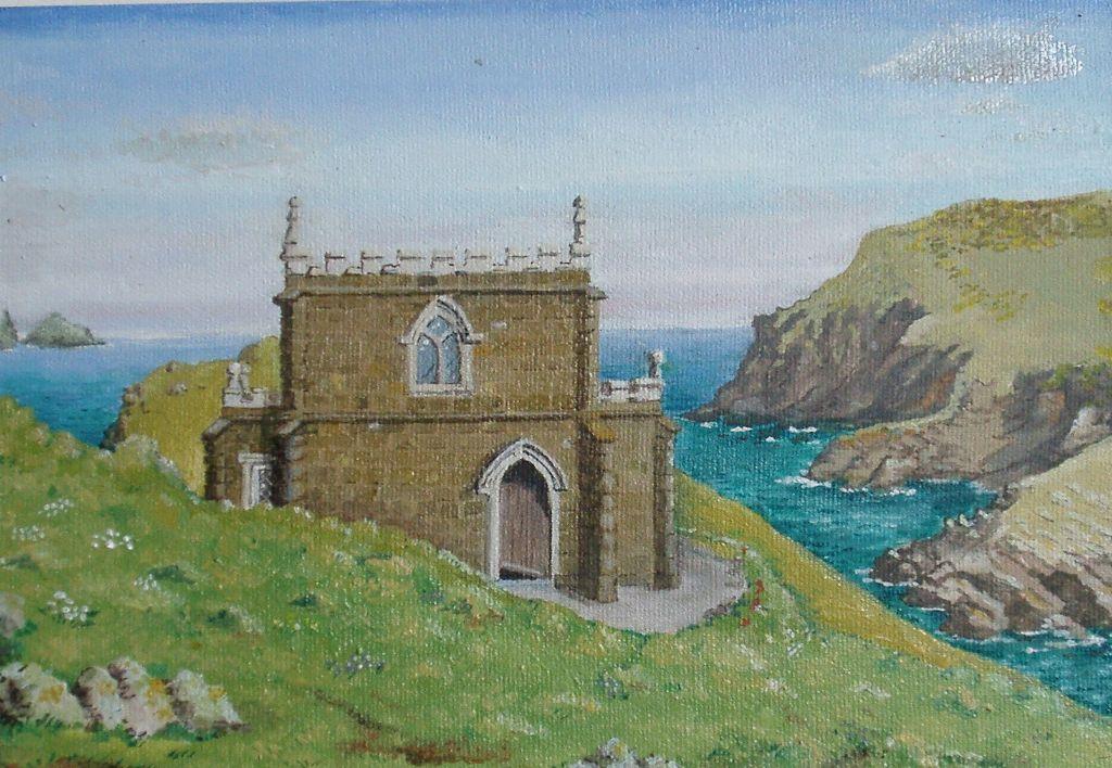 Doyden Castle Cornwall Oil 1999