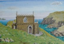 Doyden Castle Cornwall Oil 1999