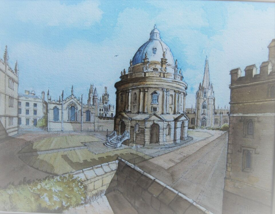 Radcliffe Camera from Exeter