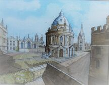 Radcliffe Camera from Exeter I