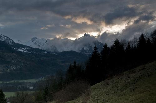 Mountain first light