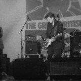Old black and white film pic from the 1999 on the main stage at the Colne Great rhythm and blues festival.