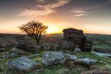 Near Saddle Tor Dartmoor Sunset 3