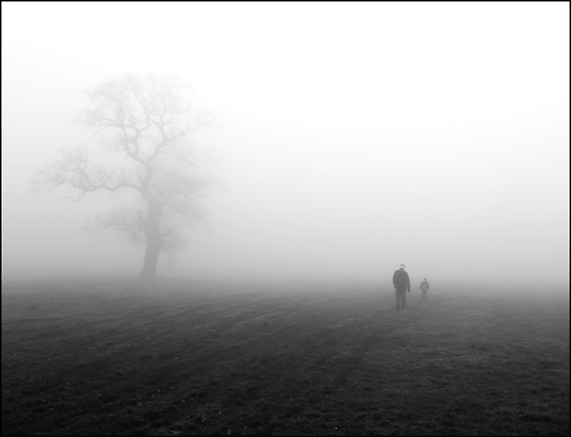 Walking in the fog