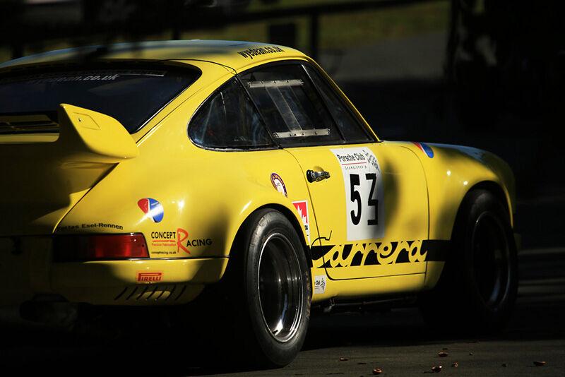 Porsche Carrera in the light at Loton park
