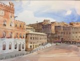 Siena, watercolour demo
