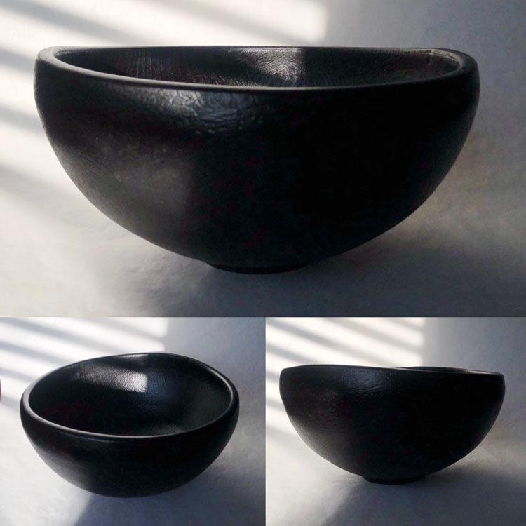 19-029 RoundBowl Maple BlackHammered