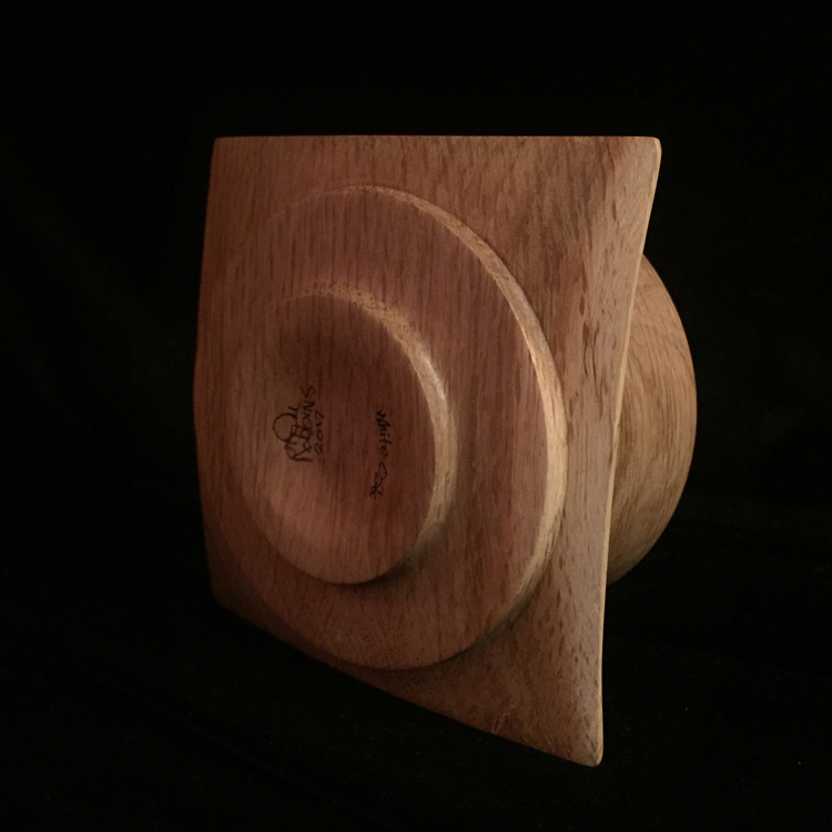 -SOLD-  White Oak bowl, bottom view