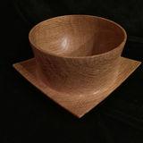 """White Oak Winged Bowl, size:  6"""" x 6"""" x 3 3/8"""""""