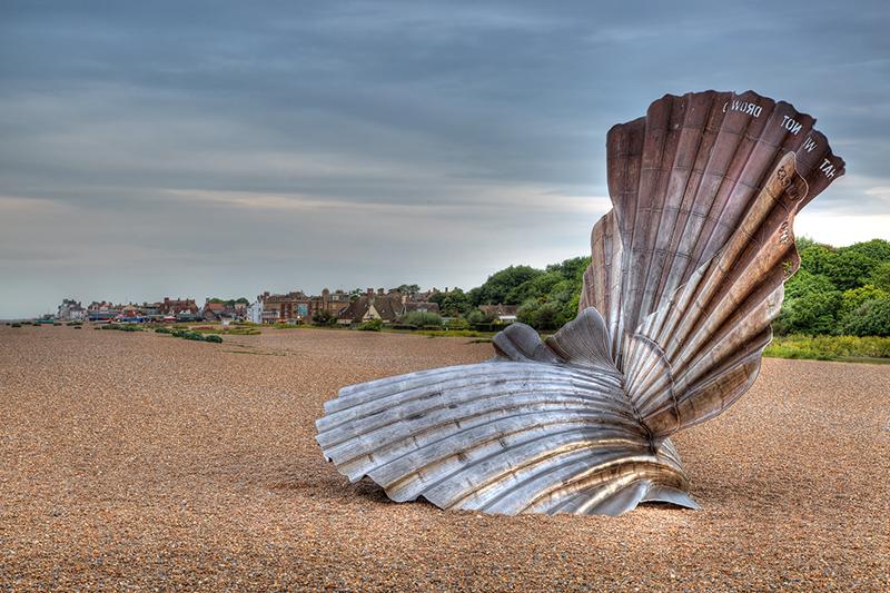 Shell sculpture, Aldeburgh